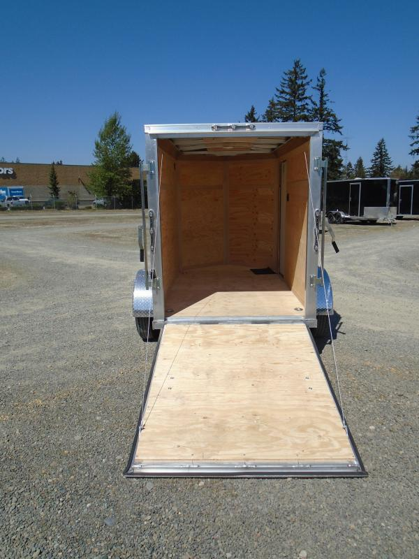 """2021 Cargo Mate Aluminum E-Series 5x8 With 6"""" Extra Height / Wedge / D-Rings / Ramp Door"""