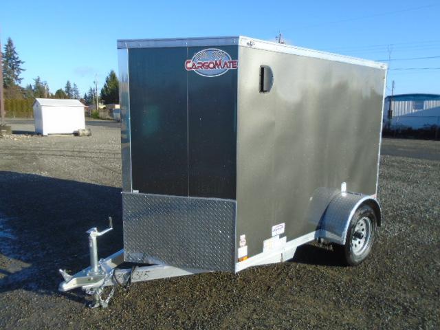 2021 Cargo Mate Aluminum 5x8 w/Extra Height/Ramp Door/D-Rings