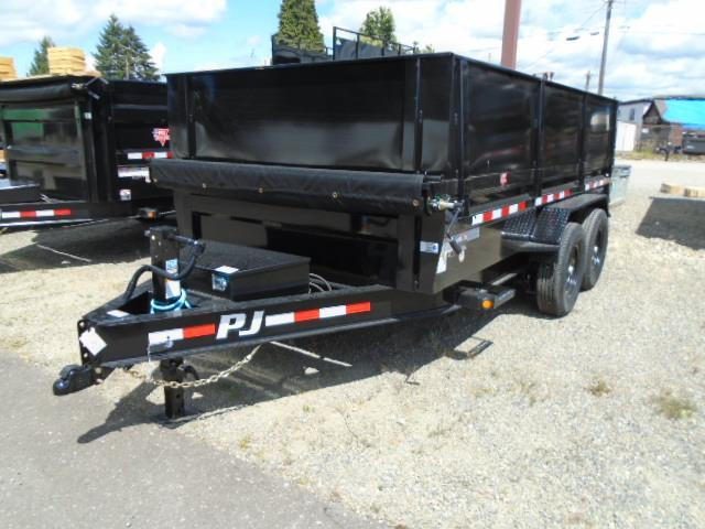 "2021 PJ 7x14 14K Dump with 24"" Side Extension Kit/Tarp Kit/Spreader Gate/10K Jack"