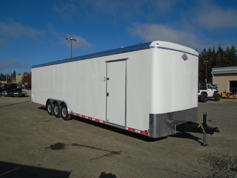 """2022 Cargo Mate Blazer 8.5x32 21K With 12"""" Extra Height / D-Rings / Barn Doors"""