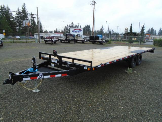 2021 PJ Trailers 8.4X24' 10K Deckover w/Slide In Ramps
