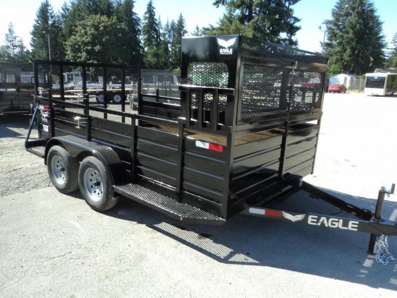 2020 Eagle 7X12 7K w/Landscape Package Utility Trailer