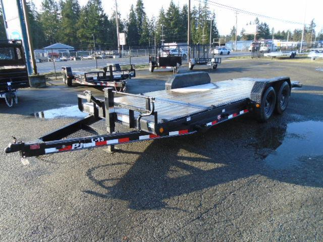 "USED 2021 PJ Trailers 7x20 14K  6"" Channel Equipment Tilt Trailer"