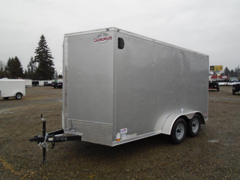 2021 Cargo Mate Trailers 7X14 7k V-Nose w/Extra Height/Rear Ramp Door/Stab Jacks