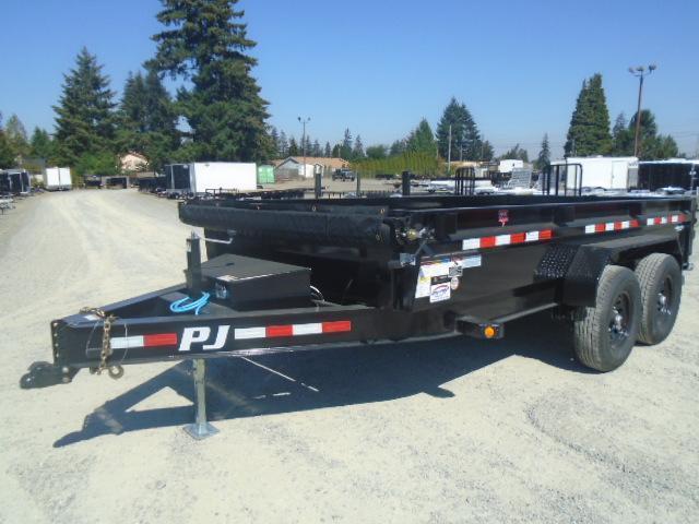2021 PJ DG 7X14 14K DUMP TRAILER WITH TARP KIT AND RAMPS