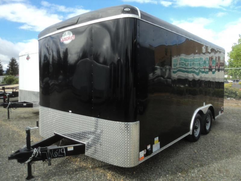 "2021 Cargo Mate Blazer 8.5x16 7K w/6"" Extra Height + Rear Ramp door"