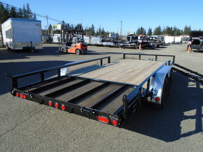 2021 PJ 7X20 7k Utility With Fold Up Gate/Side Mount ATV Ramps