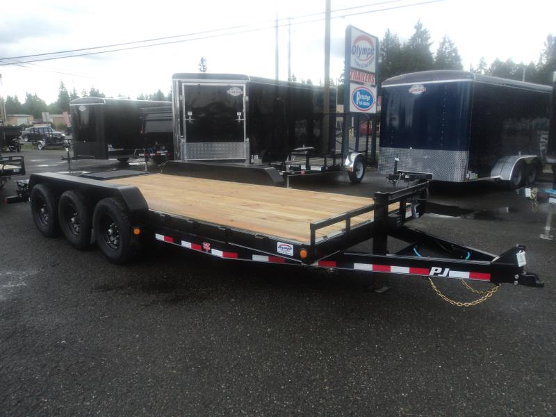 "2021 PJ CC 7X20 21K 6"" Channel Equipment Trailer w/Monster Ramps"