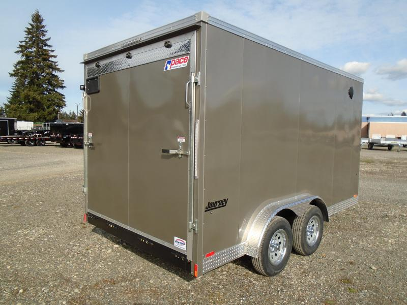 """2022 Pace American Journey SE 7.5x14 7K With 12"""" Extra Height / Ramp Doors"""