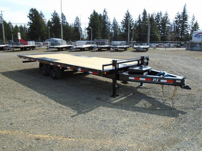 2021 PJ Trailers 8.5x22 (T8) 16K Deckover Power Tilt w/2-10k Jacks/Winch Plate
