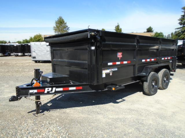 2021 PJ Trailers 7x14 High Side Dump w/4ft Sides/10K Jack Upgrade/Tarp Kit