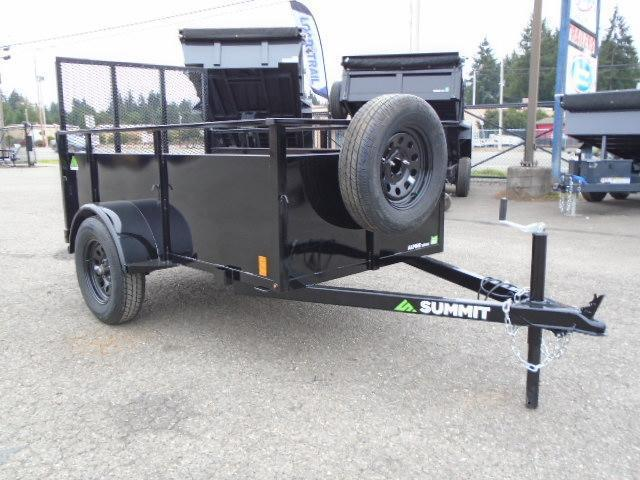 2022 Summit Alpine 4x8 Utility Trailer With Spare Tire & Mount