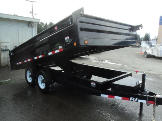2021 PJ Trailers 8x14 14k Deckover Dump Trailer