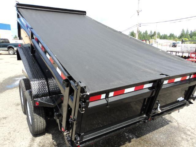 2021 Load Trail 7X16 14K Dump w/Tarp Kit/Rapid Charger/Max Step/Scissor Lift