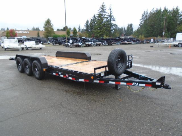 2022 PJ Trailers 7X22 21K Channel Equipment Tilt Trailer With Spare Tire & Mount
