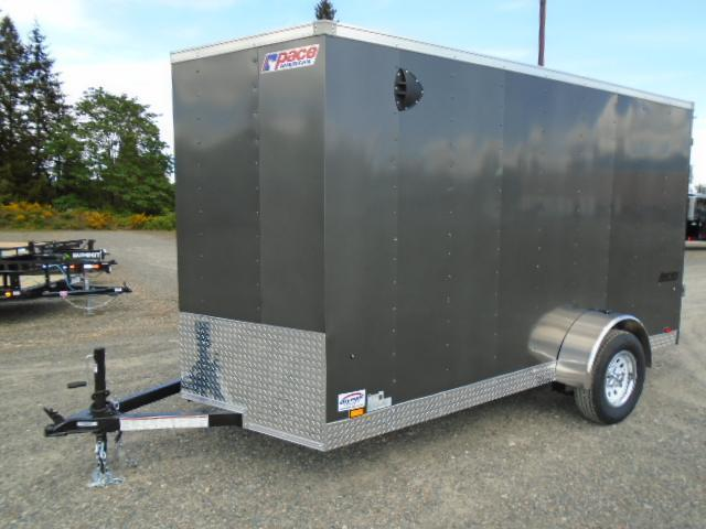 "2022 Pace American Journey Cargo 6X12 With 6"" Extra Height / Ramp Door"
