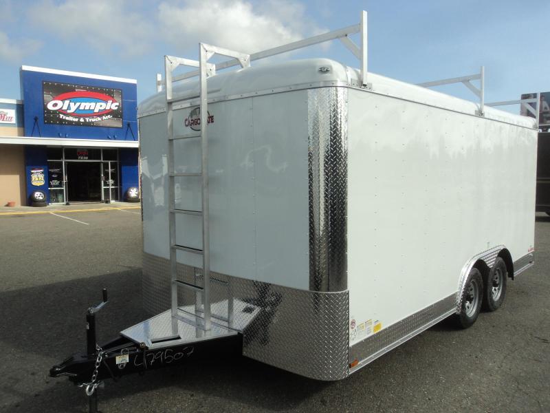 2021 Cargo Mate Blazer 8.5x16 7K With Ladder Racks / Extended Tongue / Ramp Door