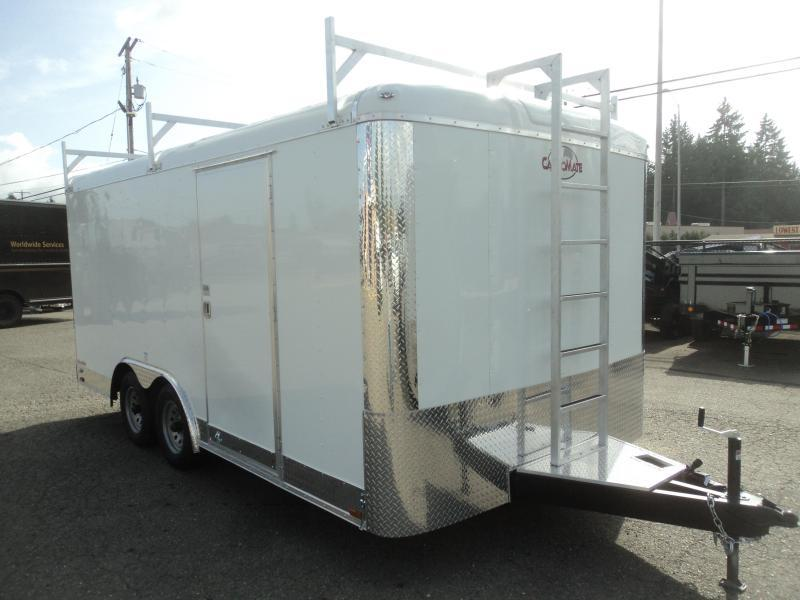 2021 Cargo Mate Blazer 8.5x16 7K wLadder Racks/Ramp/Extended tongue