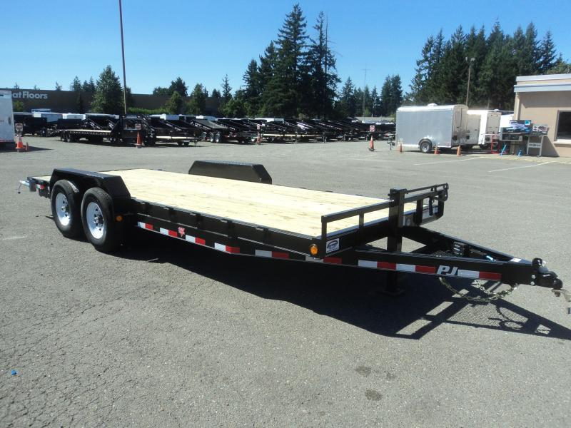 "2021 PJ Trailers 7x20 14K 6"" Channel Equipment Trailer"