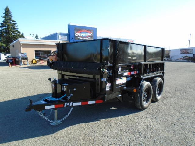 2022 PJ 5x10 Dump 7K With Side Extension Kit/Ramps/Tarp Kit/Spare Tire Mount
