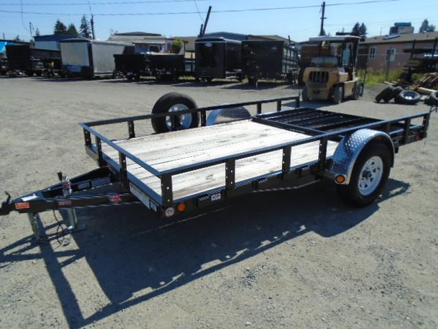 2020 PJ Trailers 7X12 Utility with Spare Tire/Fold-In Gate