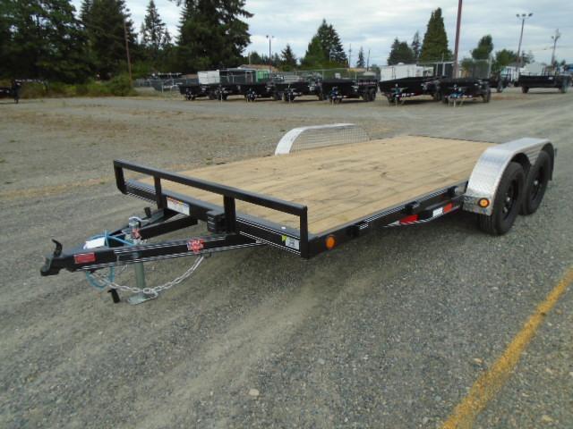 2021 PJ Trailers 7X18 7k Car Hauler Dovetail W/5' Slide In Ramps