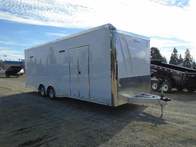 2021 Cargo Mate Aluminum Eliminator 8X26 10K Car Racing Trailer With Ramp Door