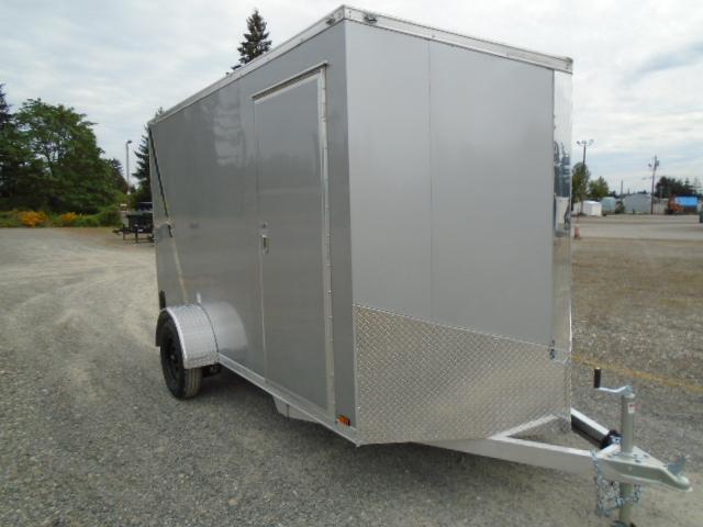 "2021 Cargo Mate E-Series Aluminum 6X12 With 6"" Extra Height / Ramp Door"
