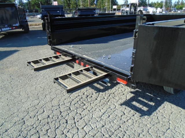 2022 PJ 7x14 14K Low Profile Dump with Tarp Kit/Spreader Gate/10K Jack/Ramps
