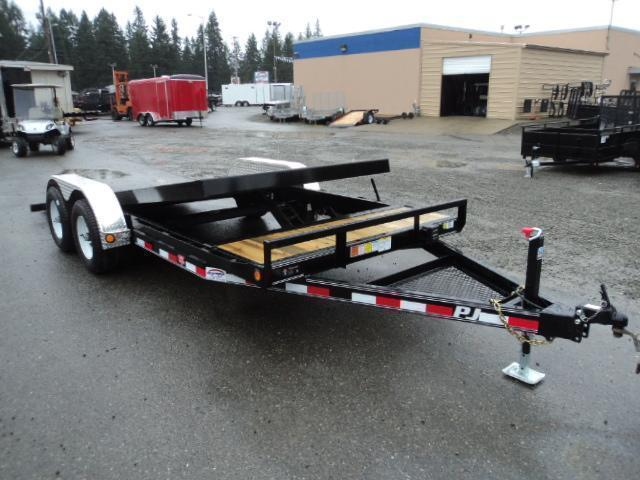 "2021 PJ Trailers 7X20 10K 5"" Channel Tilt Carhauler Trailer"