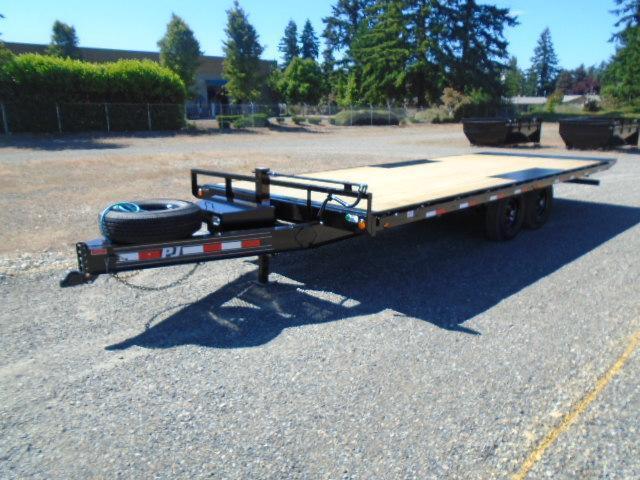 2021 PJ Trailers 8.5x22 14K Deckover Power Tilt With Spare Tire & Mount