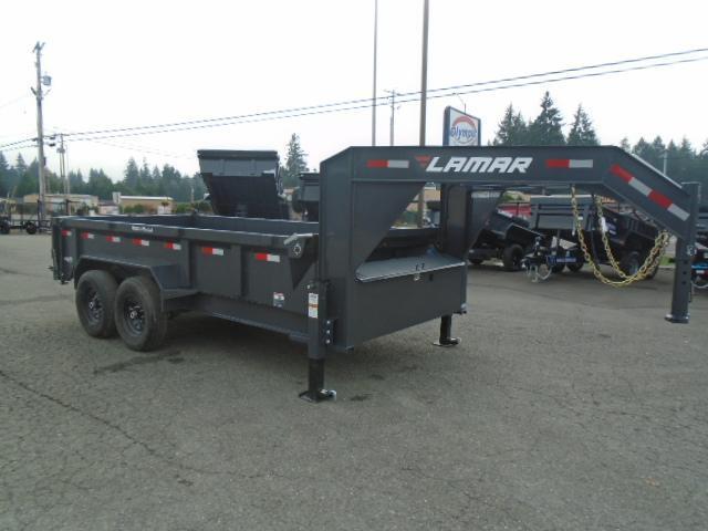 2021 Lamar Trailers 7x14 14K / Gooseneck / 7 Gauge Floor Dump Trailer