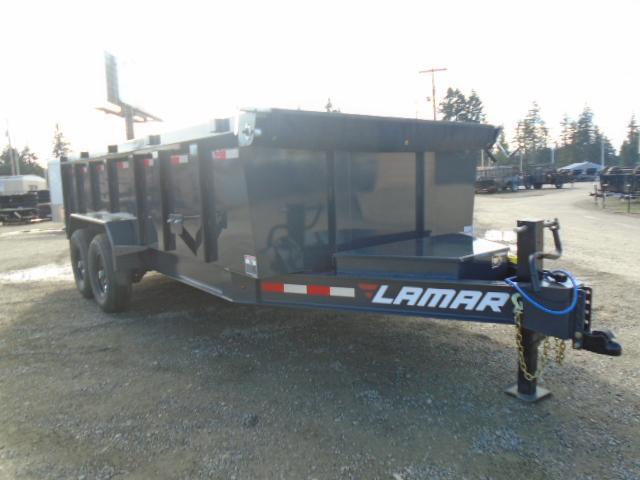 "2021 Lamar Trailers 7x16 14K / 36"" Sides / 7 Gauge Floor Dump Trailer"