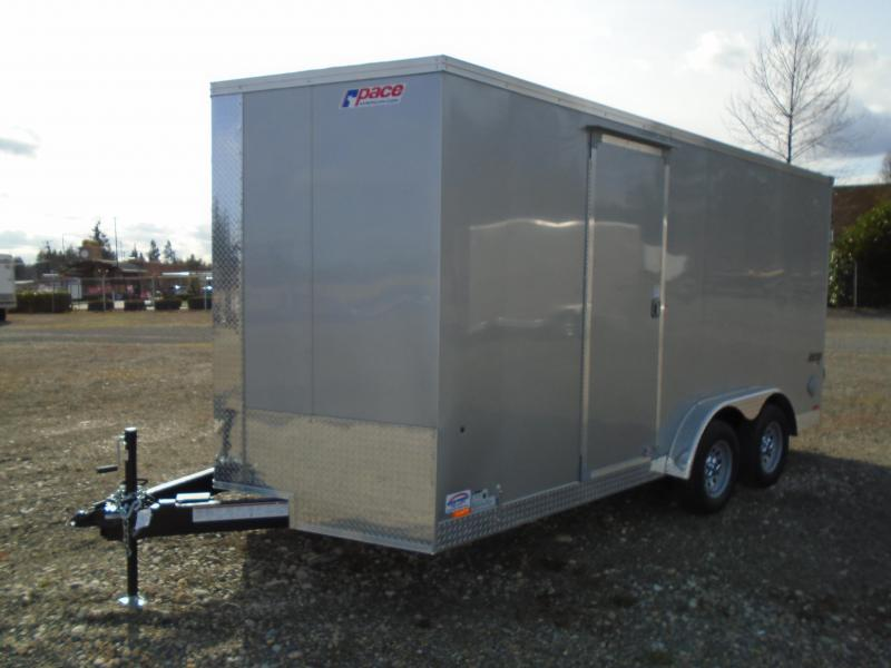 """2022 Pace American 7.5x16 7K W/12"""" Extra Height/Ramp"""