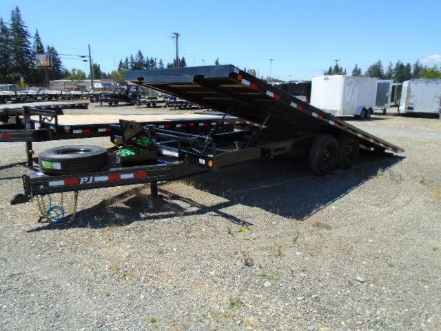 2020 PJ Trailers 8.5x22 (T8) 16K Deckover Tilt w/SpareWinch Plate
