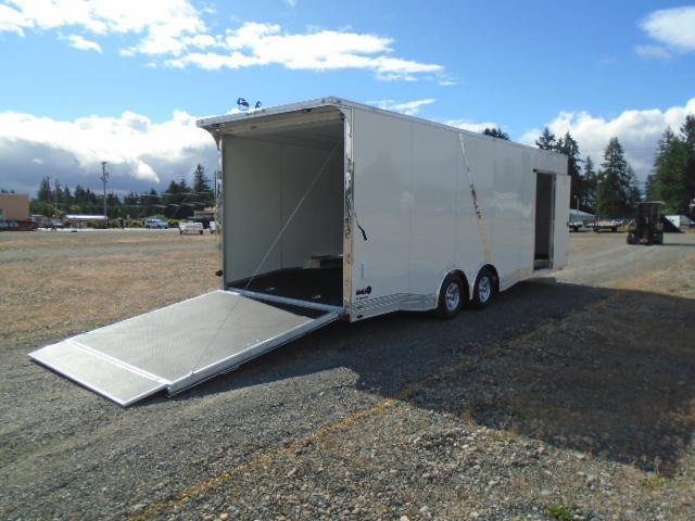 "2021 Cargo Mate Aluminum Redline 8.5x24 10K With 6"" Extra Height / D-Rings / Ramp Flap / Ramp Door"