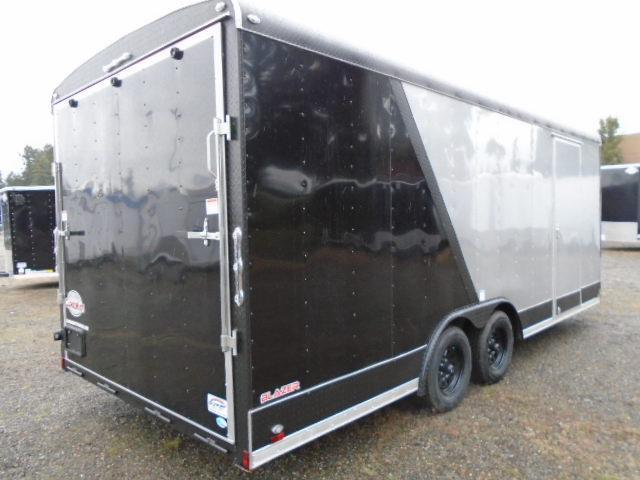 """2021 Cargo Mate Blazer 8.5x20 7K  With 6"""" Extra Height / Matte Black Pkg / Wheel Upgrade / Ramp Door"""