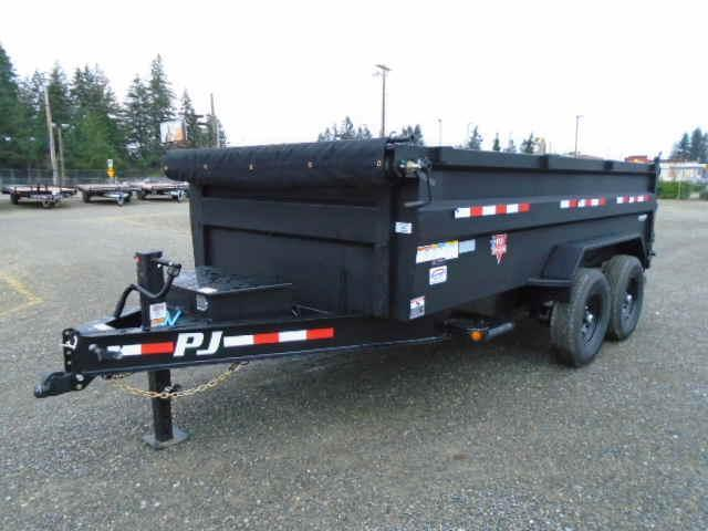 2021 PJ Trailers 7x14 High Side Dump w/3ft Sides/10K Jack Upgrade/Tarp Kit