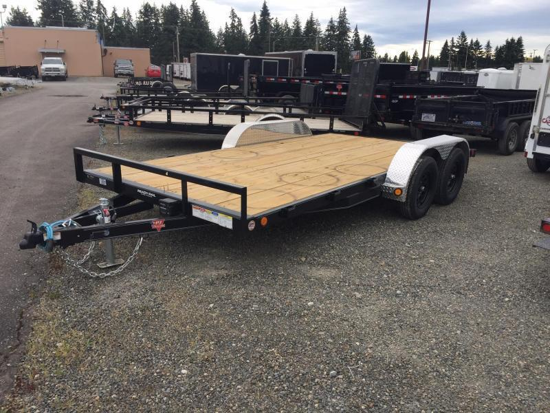 2022 PJ 7x16 7K Car Trailer w/Dovetail and Ramps