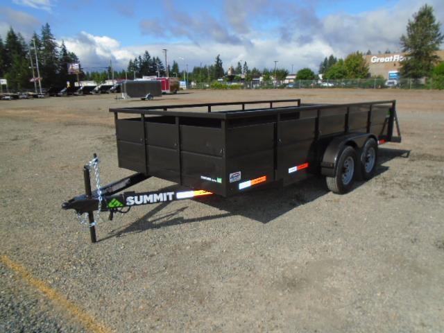 2022 Summit 7X16 10K Tandem Axle Utility Trailer