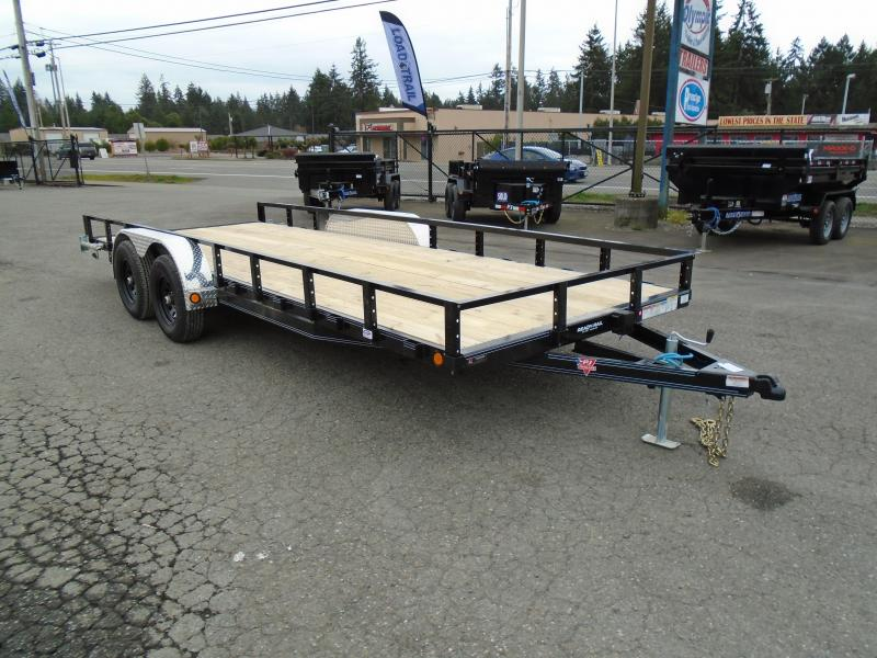 2021 PJ 7X20 10k Utility With Slide In Ramps