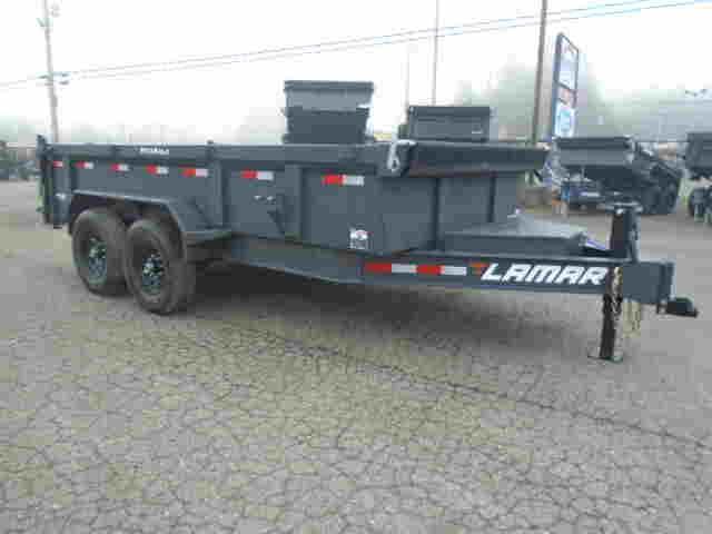 2021 Lamar Trailers 7x14 14K / 7 Gauge Floor Dump Trailer