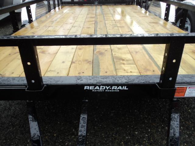 2021 PJ Trailers 6.5X14 with Side Mount ATV Ramps/Fold In Gate