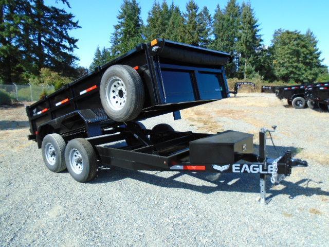 2021 Eagle Trailer 6x12 10K Dump Trailer w/Tarp Kit/Ramps/D-Rings/Spare