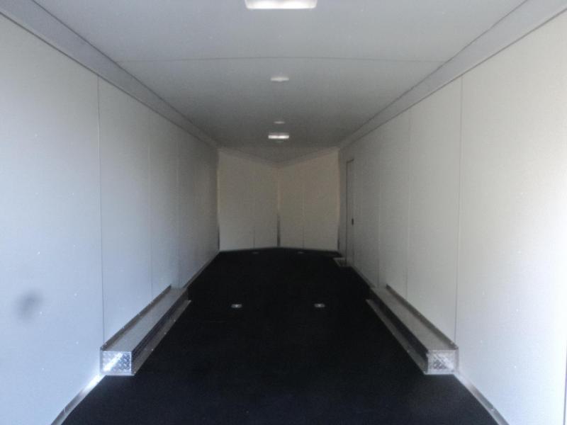 """2021 Cargo Mate Aluminum Redline 8.5x28 10K With 6"""" Extra Height / Ramp Flap / Ramp Door"""