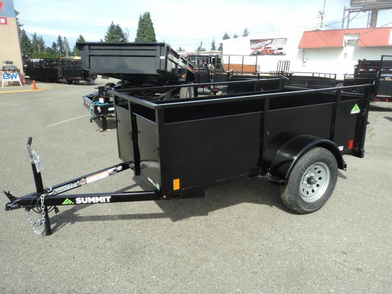 2021 Summit Alpine 5X10 Single Axle Utility w/Swing Gate