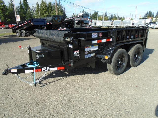 2021 PJ 5x10 Dump 7K With Ramps/Tarp Kit/Spare Tire Mount