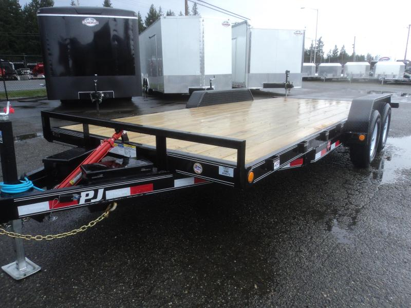 2020 PJ Trailers 7X20 10K Hydraulic Quick Tilt Trailer