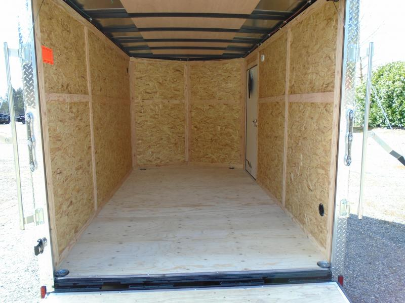2021 Cargo Mate 7X12 Wedge with Extra Height/Ramp Door++
