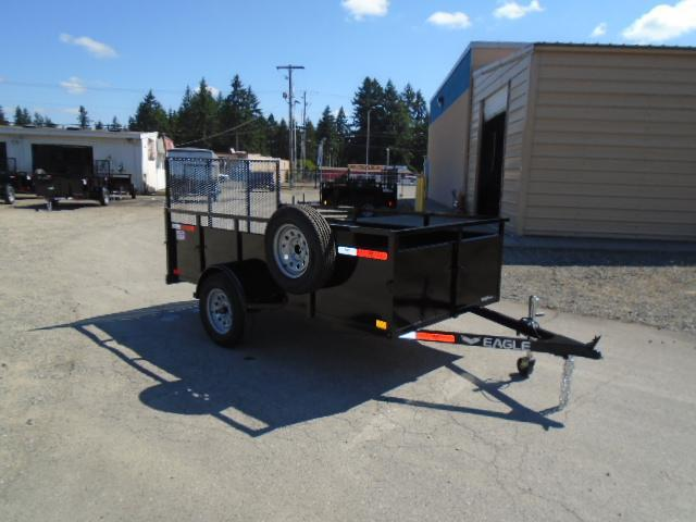 2021 Eagle Trailer Falcon 5x10 With Swing Jack / Spare Tire & Mount Utility Trailer
